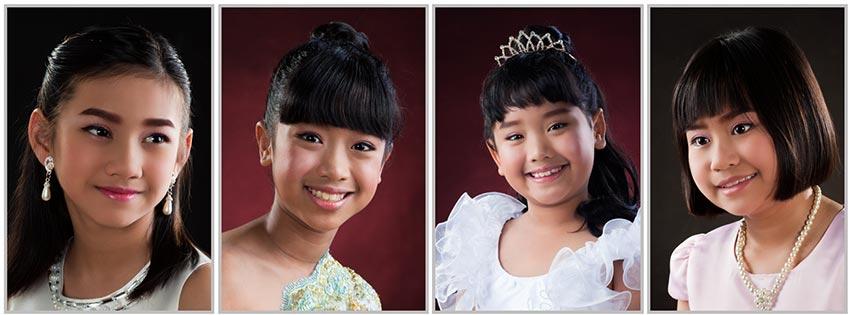 รูปถ่ายเด็กหญิงชุดไทยสากล